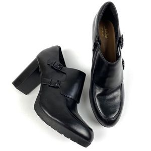 Clarks Elipsa Mae Leather Heels